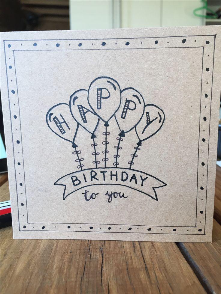 HANDLETTERING - verjaardagskaart - happy birthday - kaart