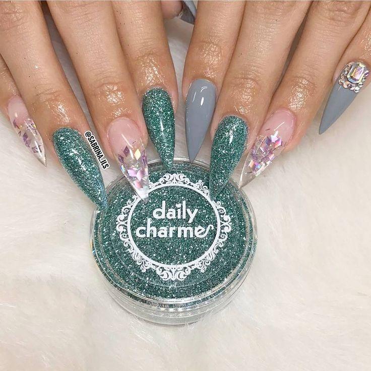 Avon Chrome Nail Powder: 43 Best Glitter Nails Images On Pinterest