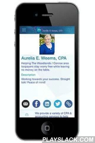 Aurelia Weems, CPA  Android App - playslack.com , Aurelia E. Weems CPA, The most trust CPA in The Woodlands. We provide a variety of services including:Income Tax Preparation for all types of businesses, and individuals, IRS and State Audit Representation, Payroll Reporting, QuickBooks® setup, support and training, Business startup services, Monthly bookkeeping, Financial statements – making sure your financial records are timely and accurate.Call today and see why we're the most trusted CPA…