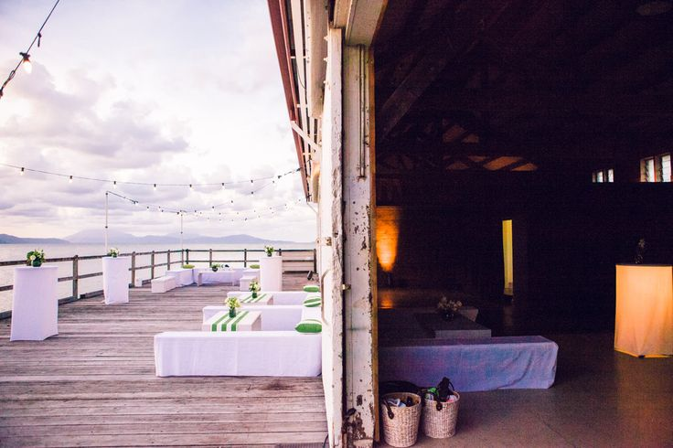 Reception on the water at Sugar Wharf, Port Douglas