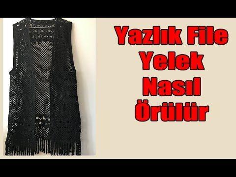 Hanımlar için Özel - Yazlık File Yelek Örgü Modelleri - YouTube