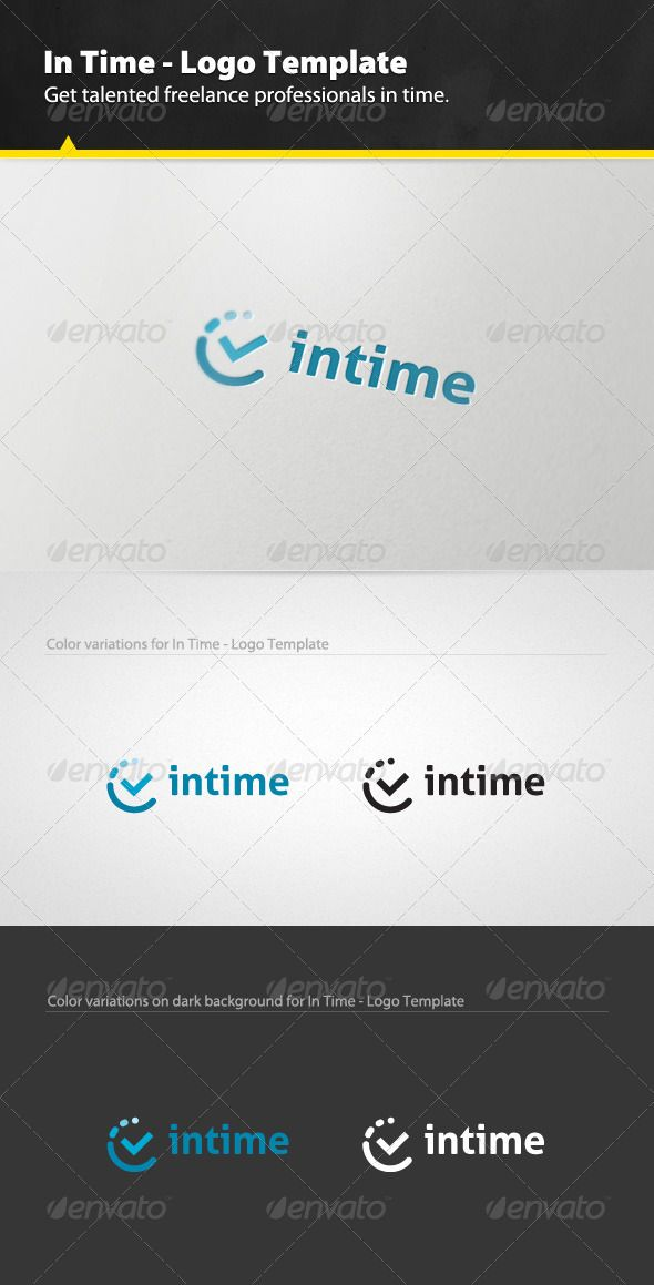 In Time - Logo Design Template Vector #logotype Download it here: http://graphicriver.net/item/in-time-logo-template/3109016?s_rank=52?ref=nexion