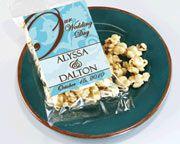 Personalized Spring Caramel Popcorn Wedding Favors