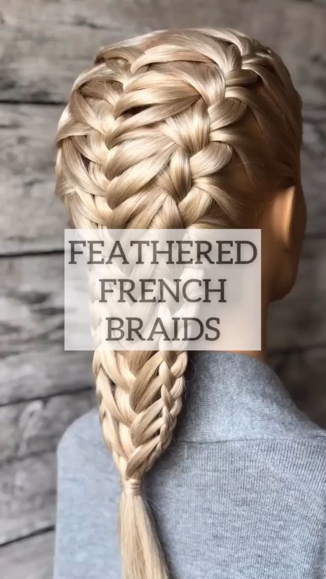 Feathered  french braid