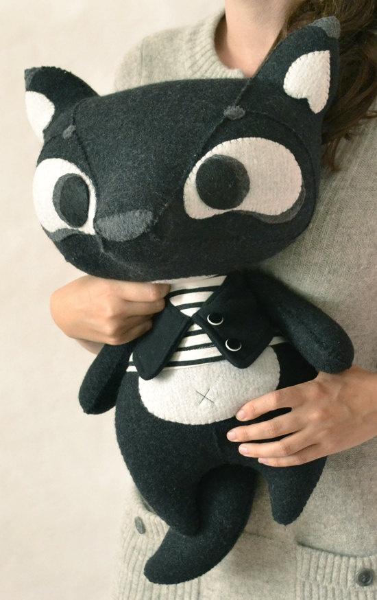Black Wolfy by MarieChou on Etsy, $160.00