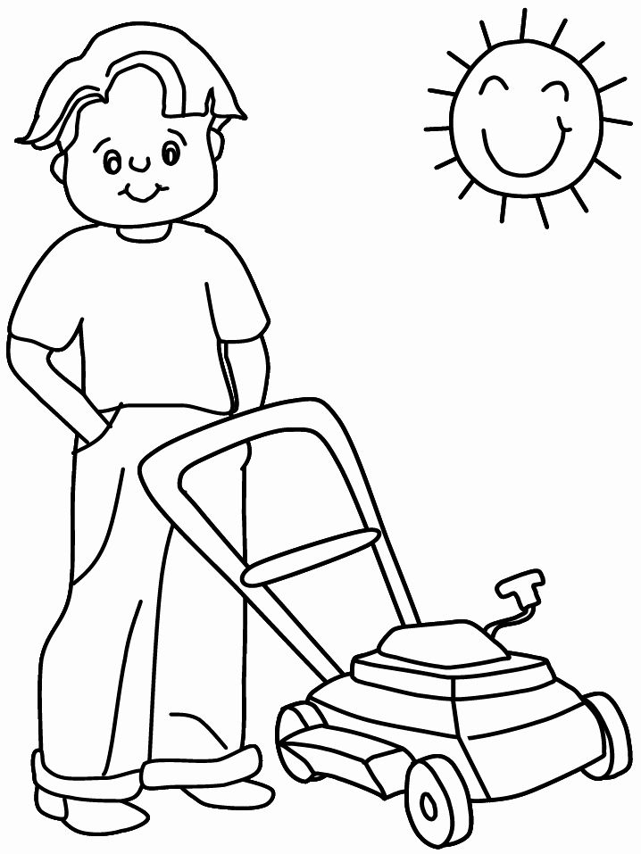 Lawn Mower Coloring Page Fresh Lawnmower Summer Coloring Pages Coloring Book Summer Coloring Pages Fathers Day Coloring Page Coloring Pages