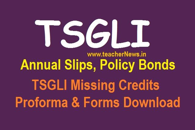 TSGLI Annual Slips Statements, Policy Bond details, forms ...