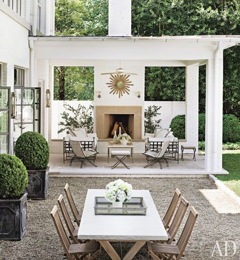 Outdoorliving, Outdoor Living, Outdoor Room, Outdoor Fireplaces, Patios, Outdoor Area, Outdoor Spaces, Architecture Digest, Backyards