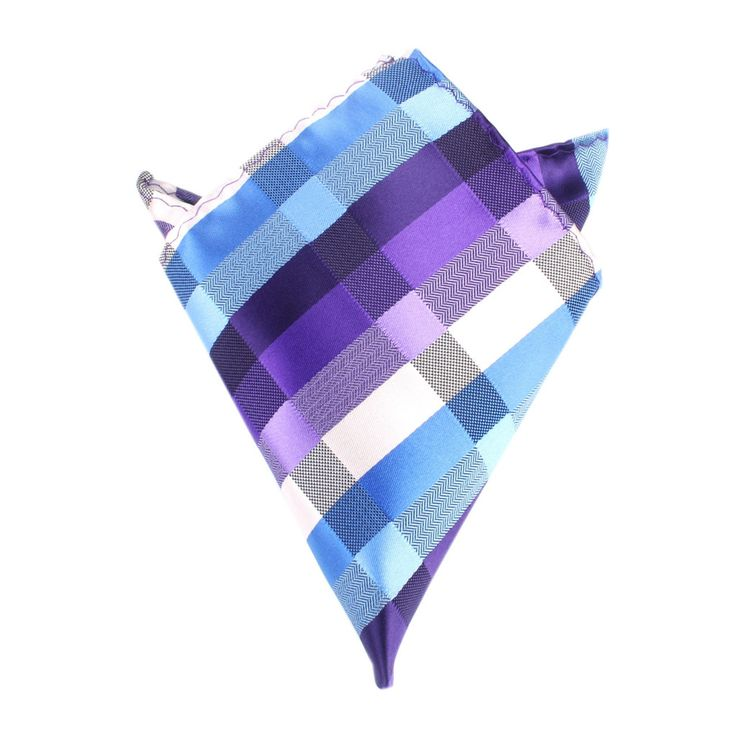Royal Violet Checkered Pocket Square by OTAA | Suit Handkerchief & Men's Pocket Squares  | Online Ties and Accessories  Australia | www.otaa.com.au | OTAA