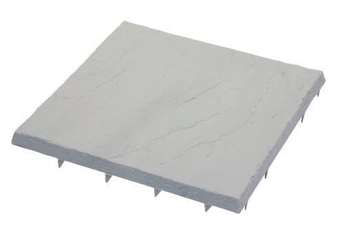 Emsco Group 2162 16-by-16-Inch Flat Rock Poly Patio Block Natural Slate, 24-Pack by Emsco Group. $120.38. Can be used to create patio space stepping stones and driveway borders. Decorative Natural Slate color. 16-Inch by 16-Inch Patio Blocks. Low profile enables you to mow up to garden beds while eliminating the need for string trimmers. Unique tooth construction which makes installation easy. From the Manufacturer                Flat Rock Patio Blocks in Natural Slate quickl...
