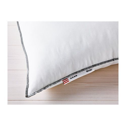 IKEA - AXAG, Kussen, harder, , Dit kussen heeft meer vulling en is daarom geschikt voor wie graag op een steviger kussen slaapt.Makkelijk te onderhouden en zacht kussen met een tijk van geborstelde microvezels.Geschikt voor mensen met een stofallergie omdat het kussen machinewasbaar is op 60°C, een temperatuur die de huisstofmijt niet overleeft.