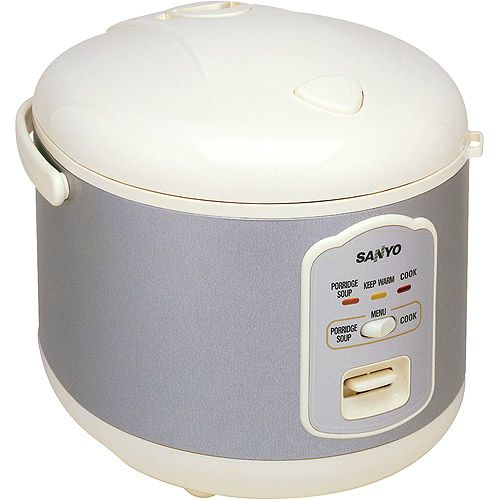 Sanyo Electric Rice Cooker, Porridge Cooker, Soup Cooker, Steamer
