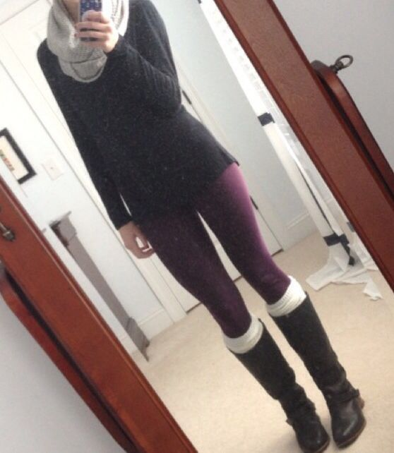 Purple leggings ☺️