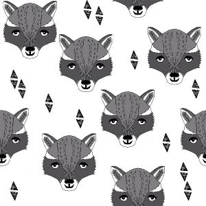 Andrea Lauren - Raccoon head offwhite and black
