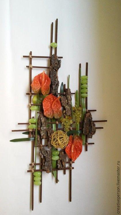Интерьерные композиции ручной работы. Заказать Коллаж флористический Анториум. #_сreativeperson. Ярмарка Мастеров. Анториум, прованс, милый дом, виноград