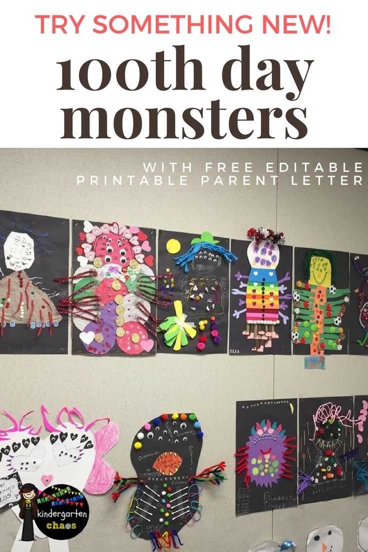 how to format a friendly letter%0A    th Day Of School Ideas  Create A Monster  With FREE Printable  u     Editable  Parent