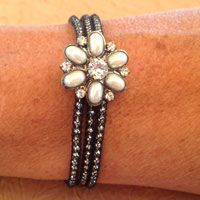 Our SilverSilk Pearl Bracelet Kit has a great Pearl Button featured with our Black Diamond SilverSilk.