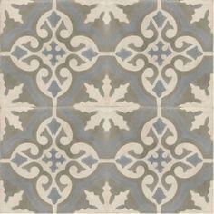 grey patterned tiles - moroccan Encuastic Cemen pattern grey tile fr06