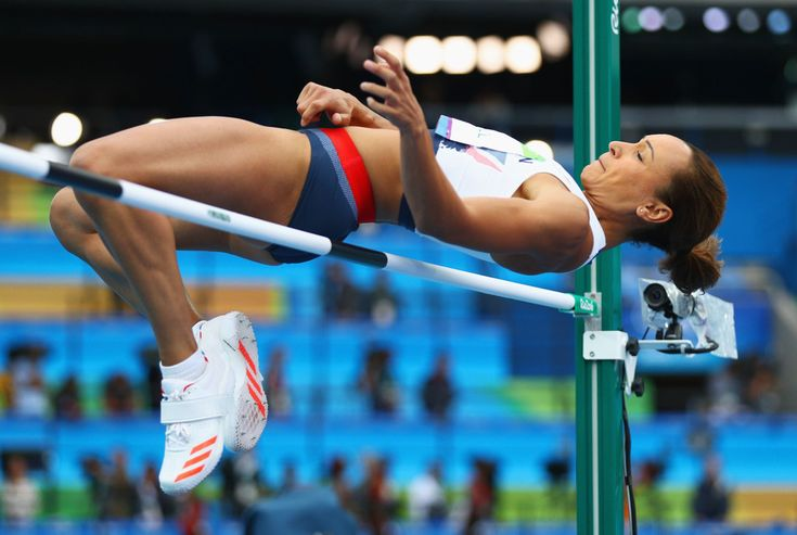 Jessica Ennis-Hill of Great Britain competes in the Women's Heptathlon High Jump on Day 7 of the Rio 2016 Olympic Games at the Olympic Stadium on August 12, 2016 in Rio de Janeiro, Brazil.