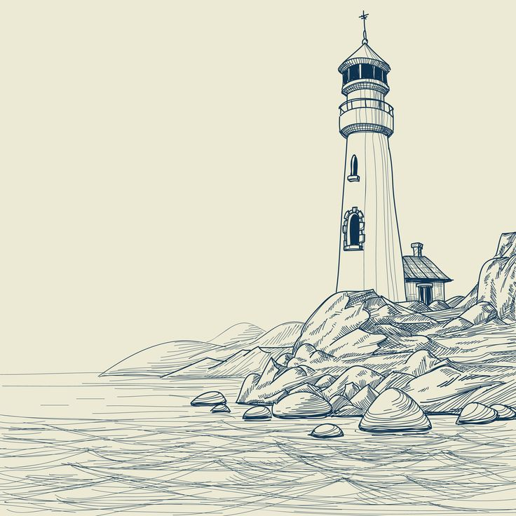 Lighthouse-tattoo-drawing.jpg (1732×1732)