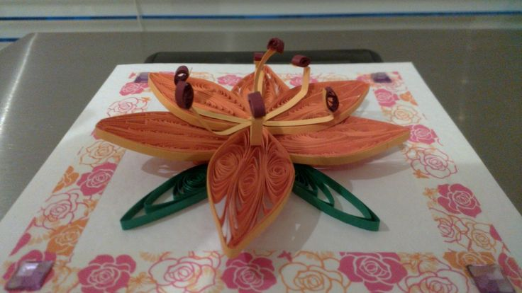 3D Orange Lilly I made for my sister in law, at a different angle