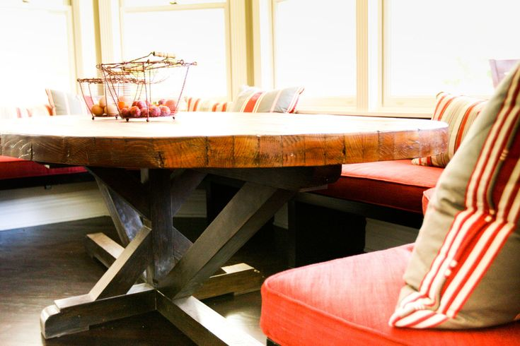Butcher Block Strip Oval Wood Dining Table. $3,500.00, via Etsy.