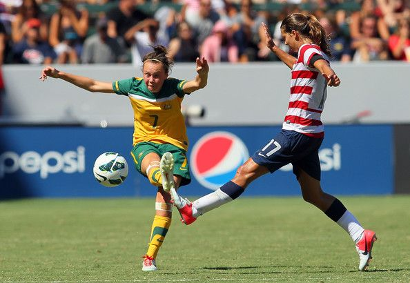 Tobin Heath and Caitlin Foord