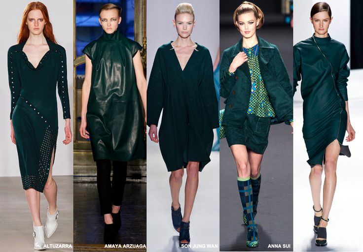 Pine - Colour Forecast Fall/Winter 2014/2015 - Runway Women's Fashion Photo: Trend Council DORLY DESIGNS: Our Top Runway Fashion Colours F/W 2014/2015 Part IV: