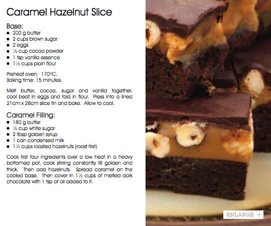 October 2013 - Caramel Hazelnut Slice   Vudu Cafe Queenstown