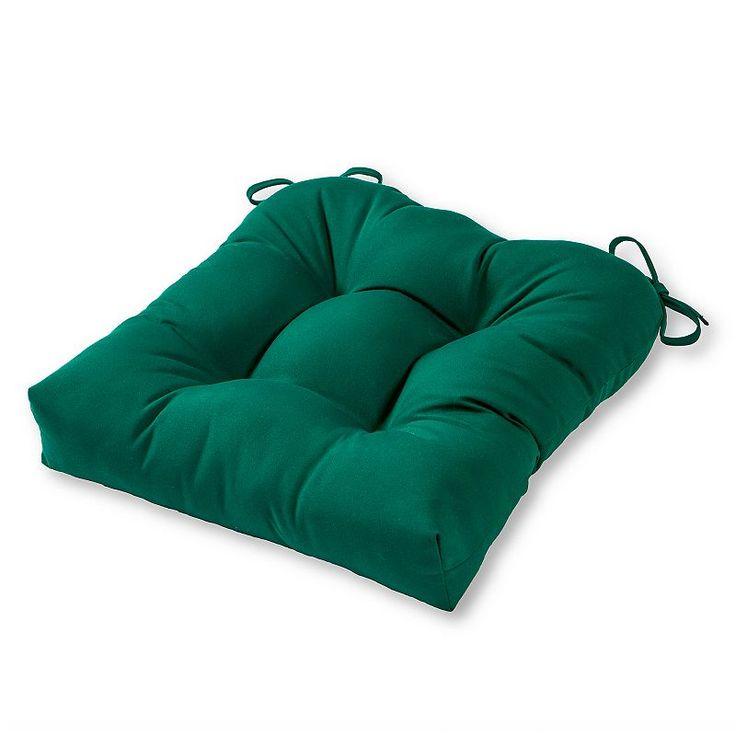 Greendale Home Fashions Square Sunbrella Outdoor Chair Pad, Green