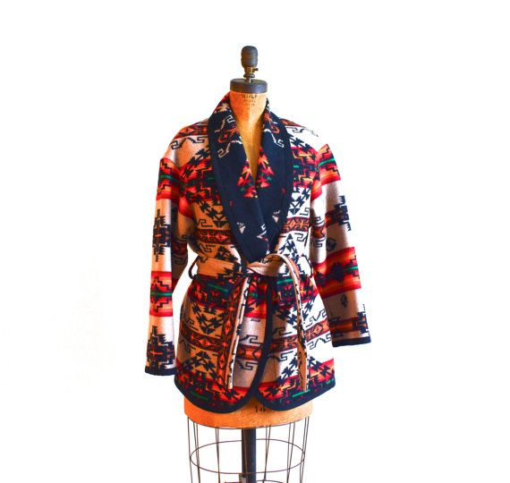 Southwestern Decor From H M: Pendleton Blanket Coat/Navajo Style Jacket By
