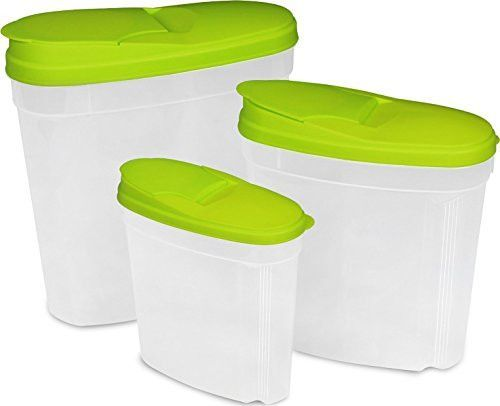 Plastic food container set-Green,3 Pack