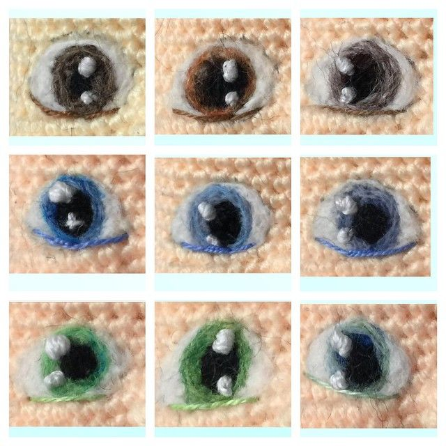 "458 Beğenme, 38 Yorum - Instagram'da Sculpturingface (@sculpturingface): ""What's the color of your eyes, mine is the one at top left corner.  They are needle felted to the…"""