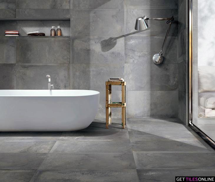 Spirit Dark Grey Matt 450x900 Code 01531 Get Tiles Online Concrete Look Tile Concrete Design Bathtub Remodel