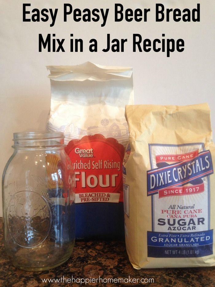 Easiest DIY Gift Ever: Beer Bread Mix in a Jar