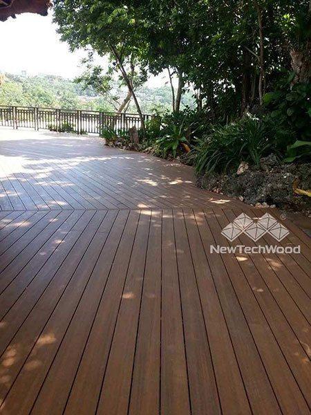 NewTechWood Teak deck under shade