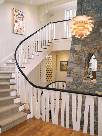 Fireplace, Traditional Staircase, Boston