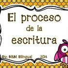 Great visual to introduce the writing process in a bilingual classroom! Clip Chart option to keep students on track with their writing process AND ...