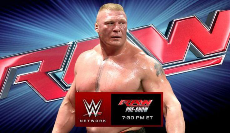 Despite the fact that he s already been booked for the main event of WWE Fastlane, Brock Lesnar hasn t been seen on WWE programming since Bray Wyatt instructed the rest of the Wyatt Family to eliminate The Beast Incarnate from the Royal Rumble Match just over a a week ago. That all changes tonight as Lesnar is set to appear on WWE Monday Night Raw and will undoubtedly be looking to exact revenge on the Wyatt Family. #WWE Posts Brock Lesnar/Bray W