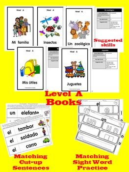 Lectura-Guiada-15-Sequenced-Spanish-Guided-Reading-Emergent-Books-w-Activities-2000782 Teaching Resources - TeachersPayTeachers.com