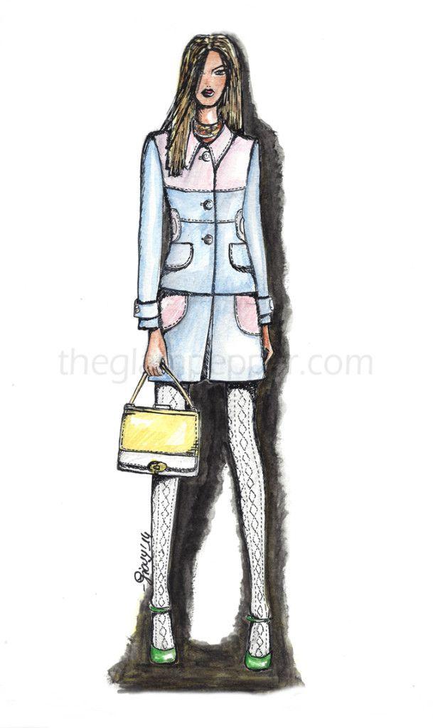 Miu Miu, Spring summer 2014, fashion sketch