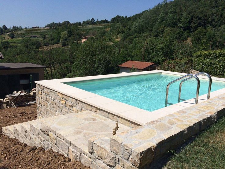Piscina dolcevita gold terrazzata 3x5 metri con bordi e for Piscine 3x5