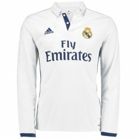 Camiseta Nueva del Real Madrid Home 2017 Manga Larga
