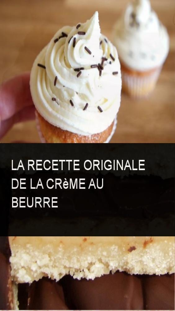 La recette originale de la crème au beurre