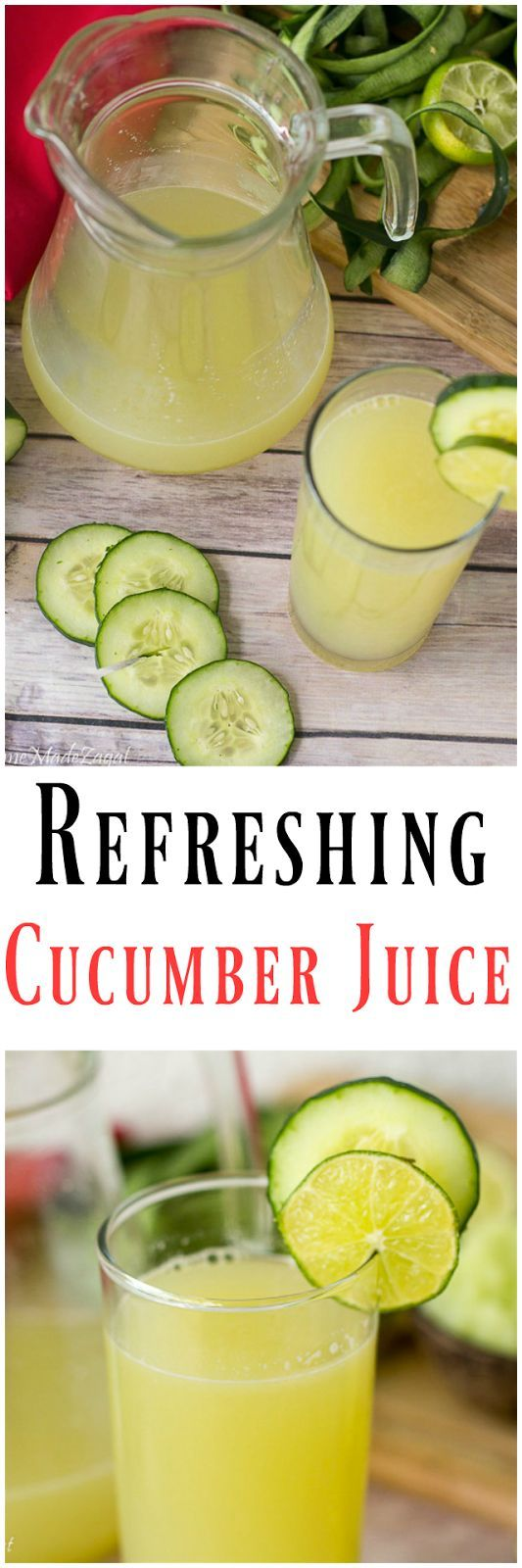 An extremely refreshing juice made from cucumber and mixed with lime and a little ginger. Not only refreshing but packed with healthy benefits