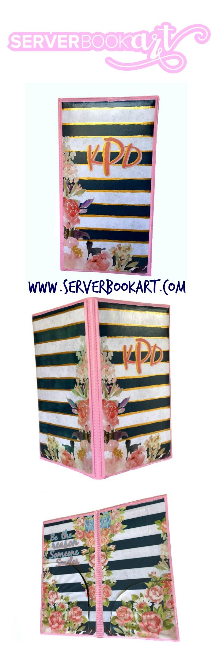 Monogram Server Book by Server Book Art Waitress book #waitressbook #serverbook