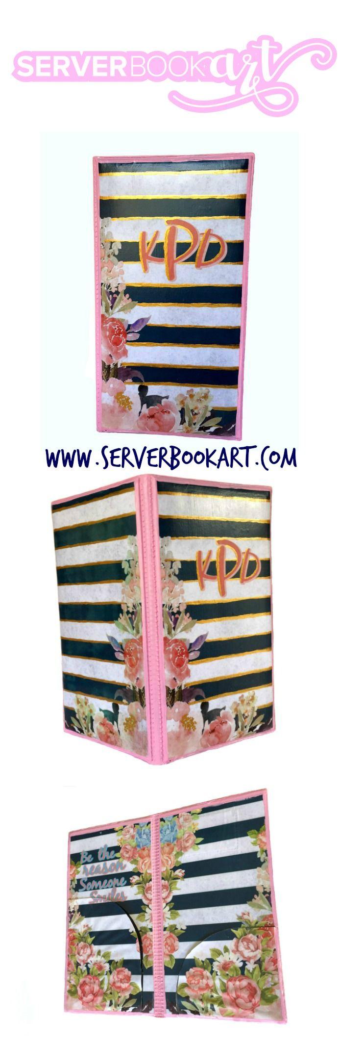 Monogram Server Book by Server Book Art Waitress book  #waitressbook #serverbook