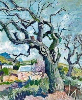 Old Oak Tree Near Wellington - Gregoire Boonzaier
