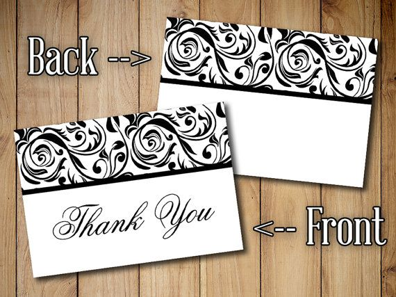 Best 25 Thank you card template ideas – Wedding Thank You Cards with Photo Insert