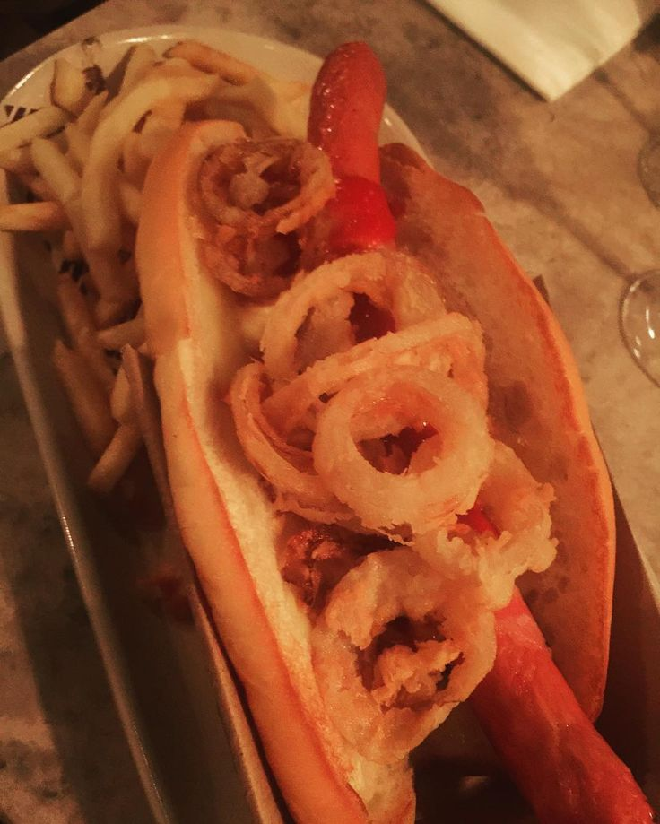 Hot dawg we have a weiner #adelaide #foodporn #hotdog @breadandbone by thestreetsofadelaide